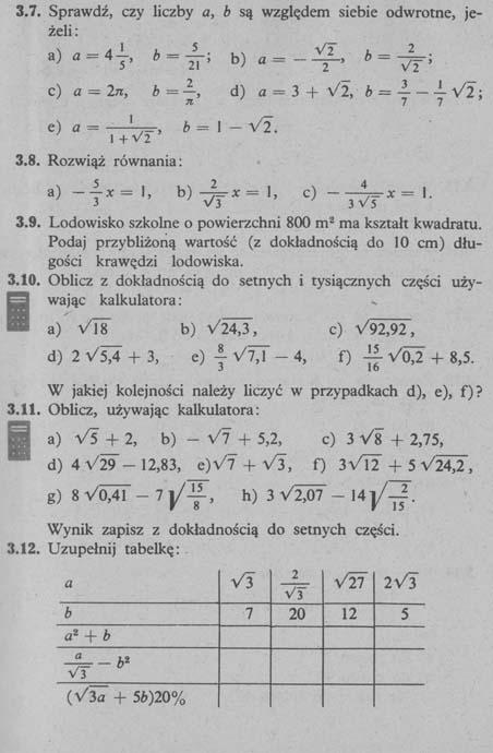 Liczby rzeczywiste – zadania 2