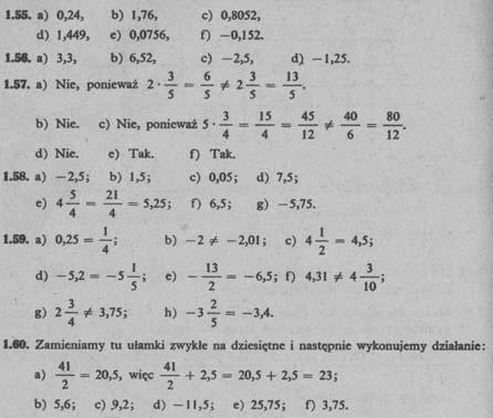 Liczby wymierne – odpowiedzi 11