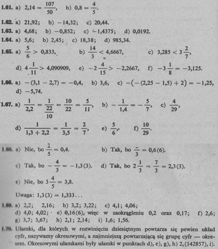 Liczby wymierne –  odpowiedzi 12