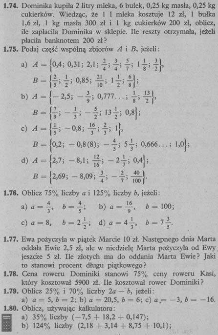 Liczby wymierne – zadania 14