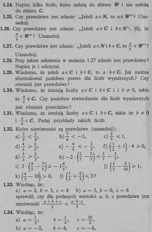 Liczby wymierne – zadania