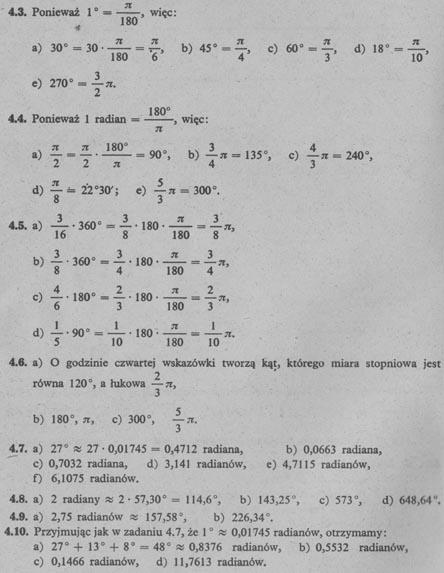 Miara stopniowa i miara łukowa kąta - rozwiązania 2