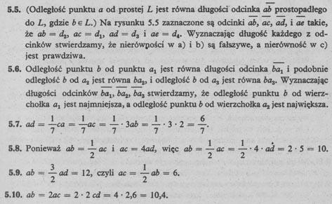Prosta, odcinek, długość odcinka - rozwiązania 2