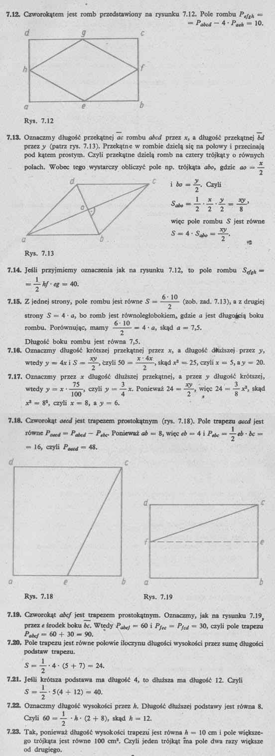 Pola wielokątów – rozwiązania 2