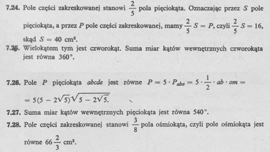 Pola wielokątów – rozwiązania 3