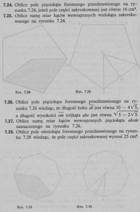 Pola wielokątów – zadania 3